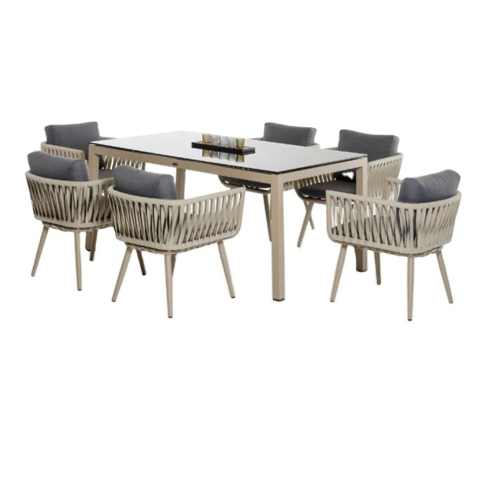 Modern Outdoor Furniture Garden Dining Table Set Dining Table Rope Chair Set Buy Outdoor Dining Table Chair Set Vogue Dining Table Sets Garden Furniture Outdoor Product On Alibaba Com