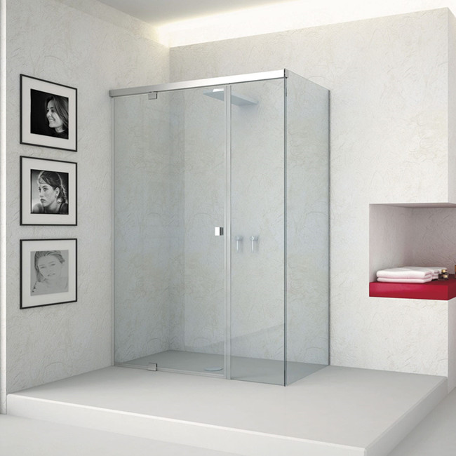 frameless double bifold shower glass enclosure pivot shower door buy shower door shower curtain glass shower screen product on alibaba com