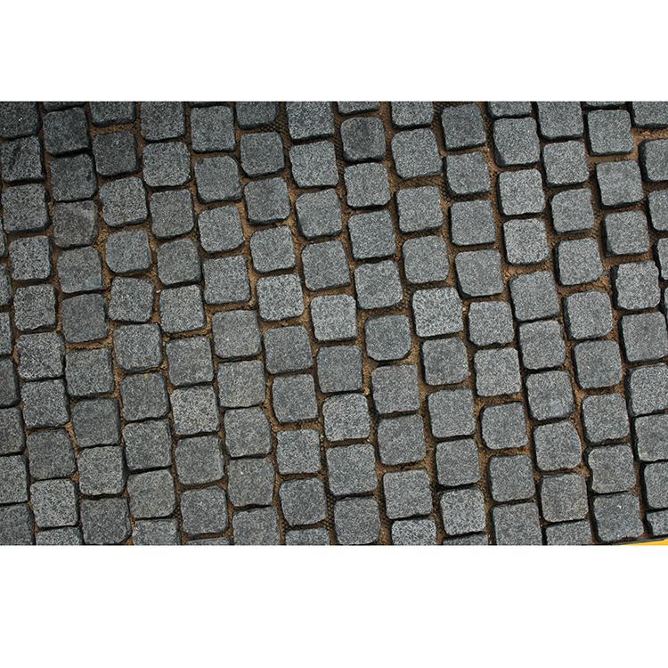 g684 black cobblestone paver curbstone floor tile granite buy g684 black cobblestone floor tile granite g684 black granite cobblestone paver product