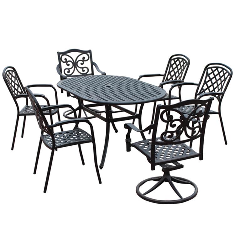 garden 6 seater patio dining set cast aluminum table and cast aluminum chair buy 6 seater patio dining set cast aluminum tables and chairs heb