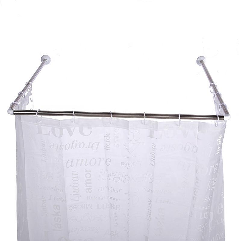 stainless steellong u type install shower curtain rod waterproof and rust proof window corner shower curtain rods pole buy install shower curtain