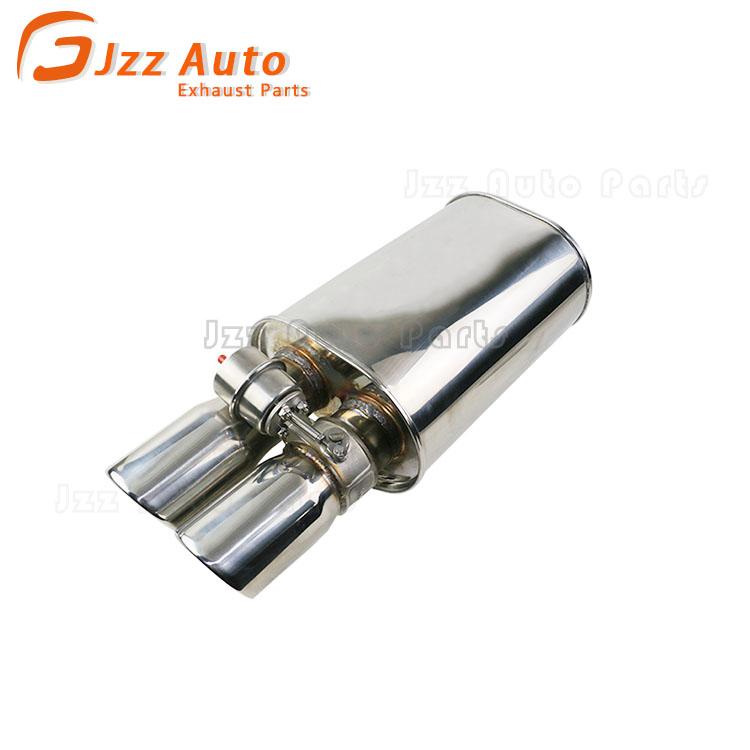 jzz high quality universal car exhaust valve muffler dual outlet cut out for borla muffler buy muffler valve valve exhaust muffler muffler exhaust