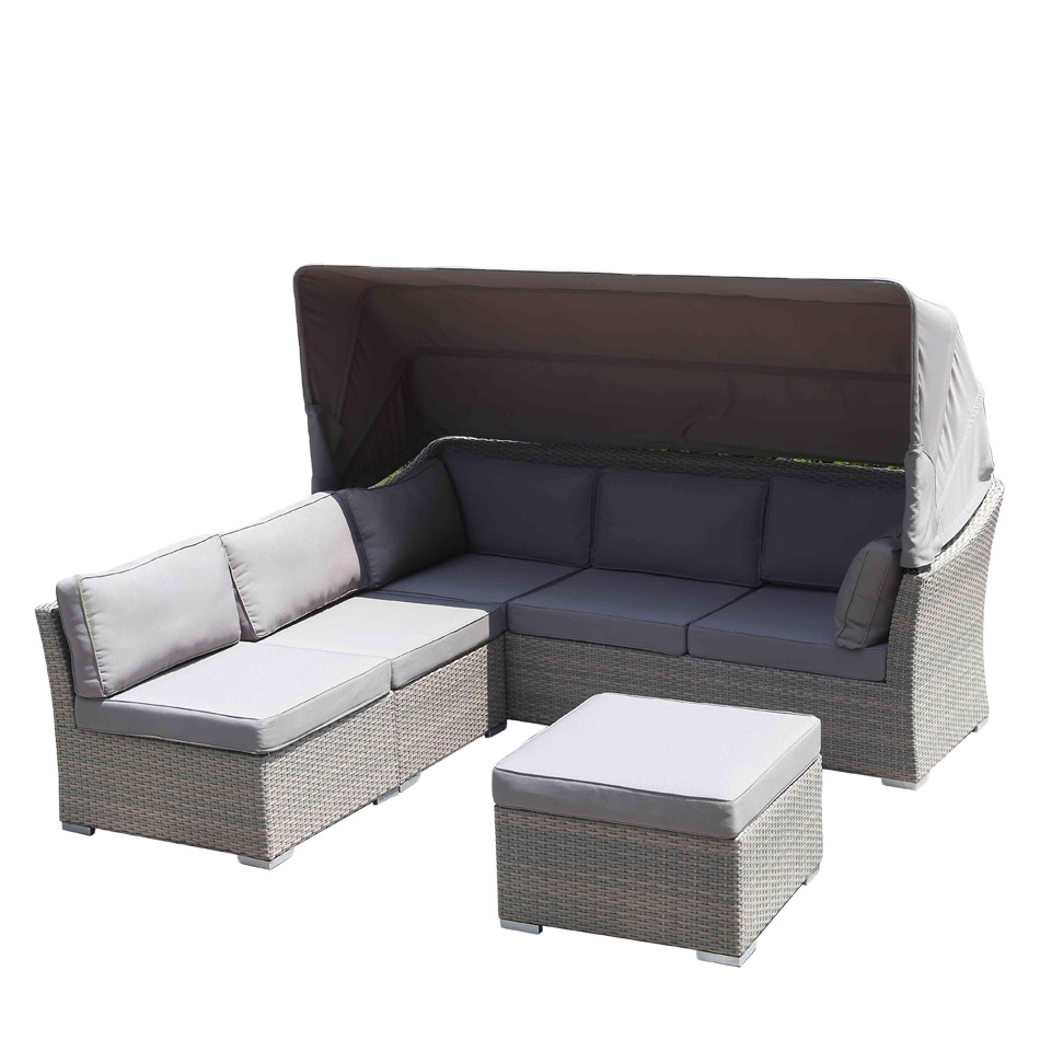 new design plastic rattan wicker patio corner sofa daybed with canopy outdoor lounge sofa set buy corner sofa outdoor furniture garden furniture