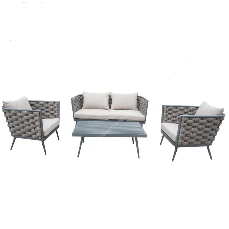 bonne qualite large corde epaisse en aluminium exterieur jardin canape meubles de salon fabrique en chine usine buy ensembles de jardin de
