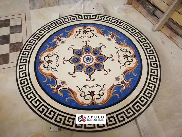 custom design marble stone waterjet medallion floor flowers round water jet italian big marble inlay designs wall tile patterns buy marble floor