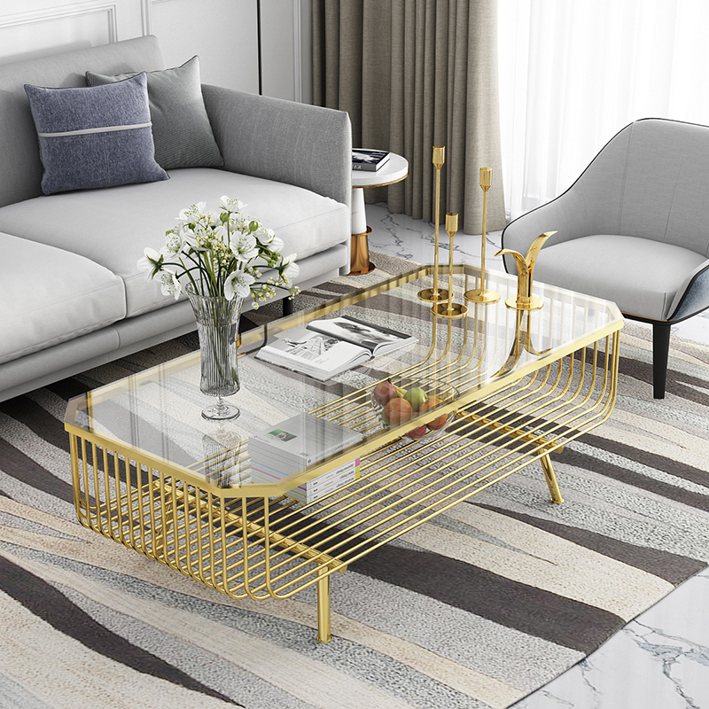 light luxury tempered glass for modern double layer tea table glass furniture buy modern glass table plexiglass side table glass coffee table