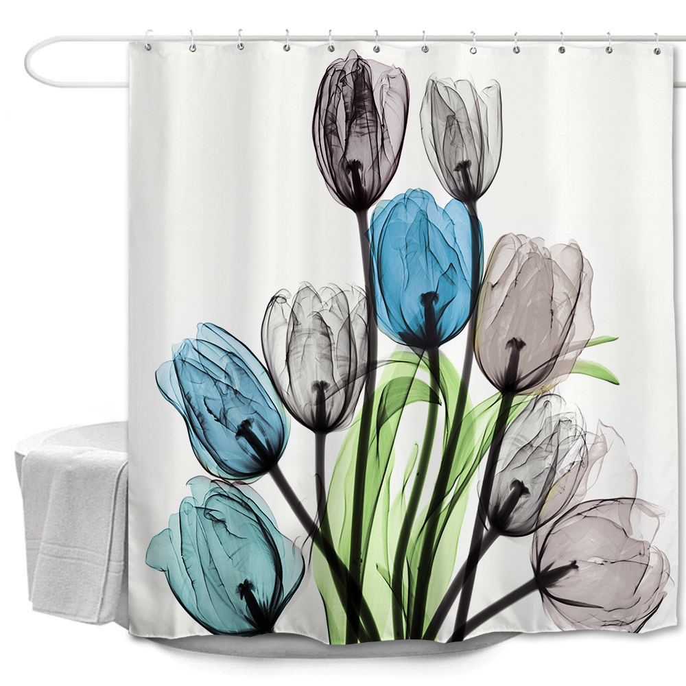 hot sale custom design high quality waterproof polyester tulip shower curtain printing buy shower curtain printing tulip shower curtain polyester cotton fabric shower curtain product on alibaba com