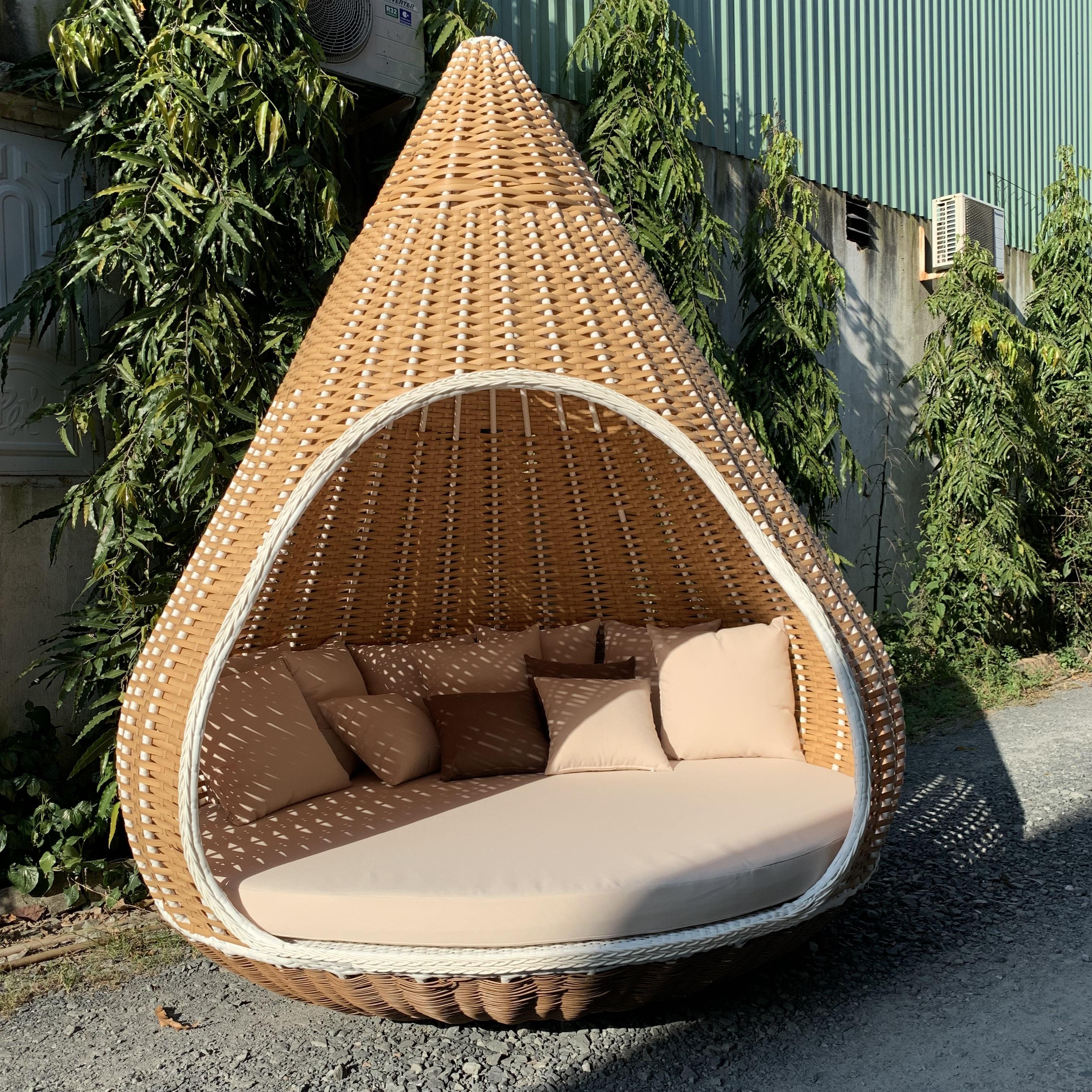 outdoor furniture resin wicker rattan outdoor patio garden nest bird swing chair patio big round swing hanging bed chair buy outdoor swing