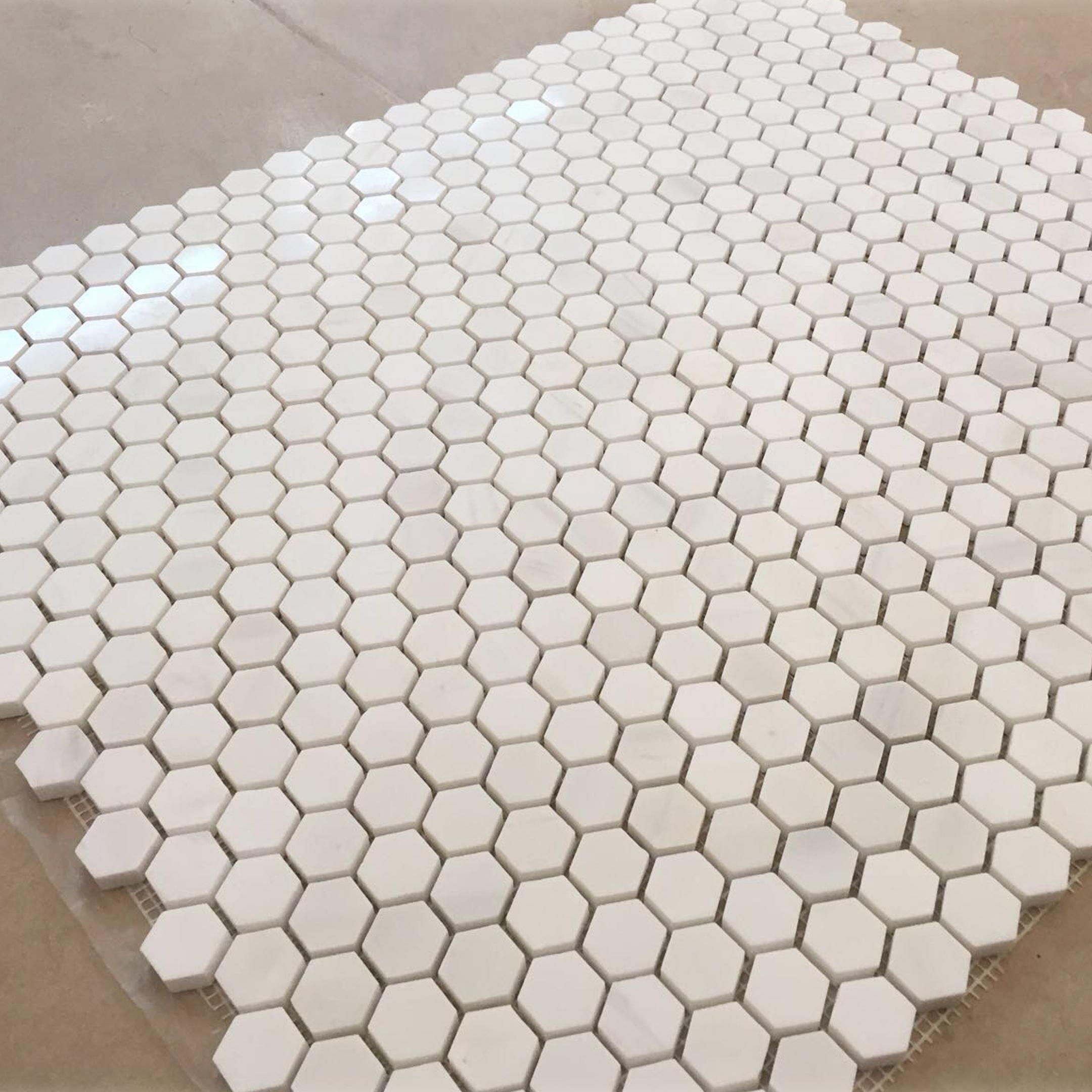 turkish marble hexagon mosaic tile mesh on mounted buy hexagon marble mosaic hexagon polished mesh mounted mosaic tile honeycomb mosaic hexagon