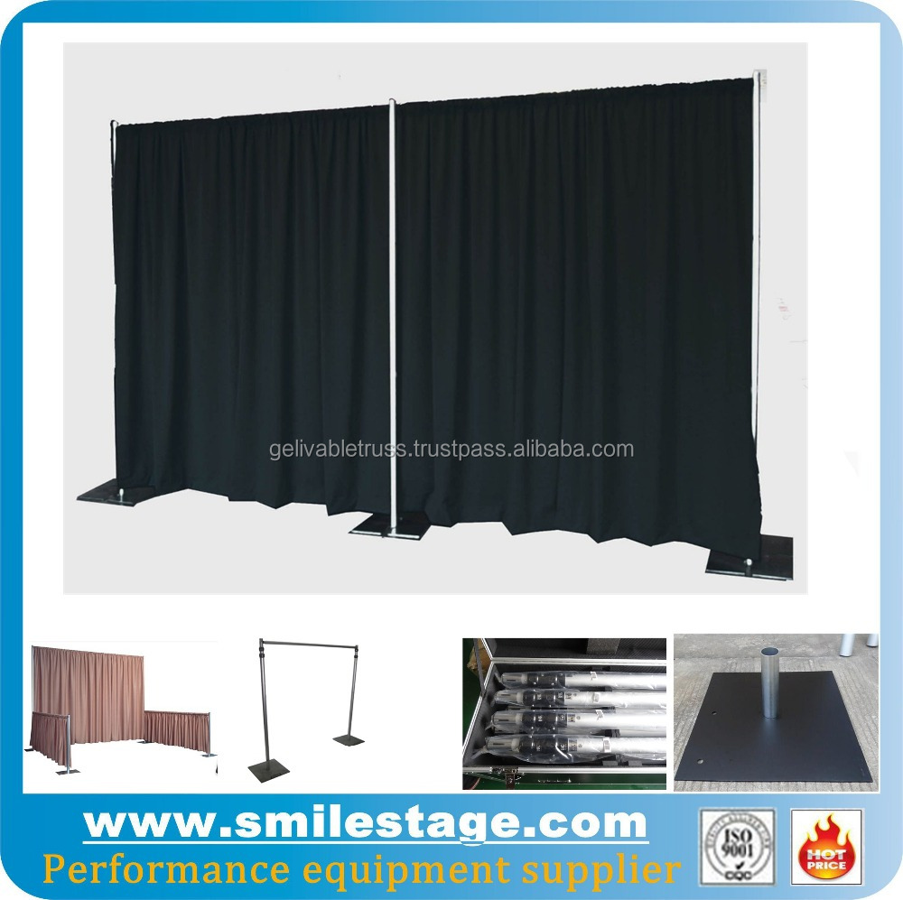 portable stage curtain backdrop stand for wedding backdrop buy portable stage curtain backdrop stand wedding backdrop portable pipe and drape