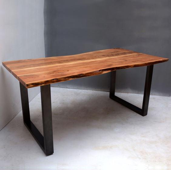 meubles en fer industriel tables en tranches de bois a bords vivants buy cast iron table base iron frame table base industrial live edge dinning table product on alibaba com