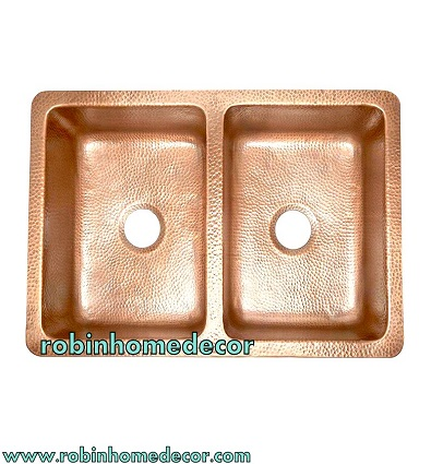 antique luxury copper smooth farmhouse sink double bowl antique kitchen sink buy hand polished finish copper kitchen sink for dish wash double bowl 16 gauge kitchen sink product on alibaba com