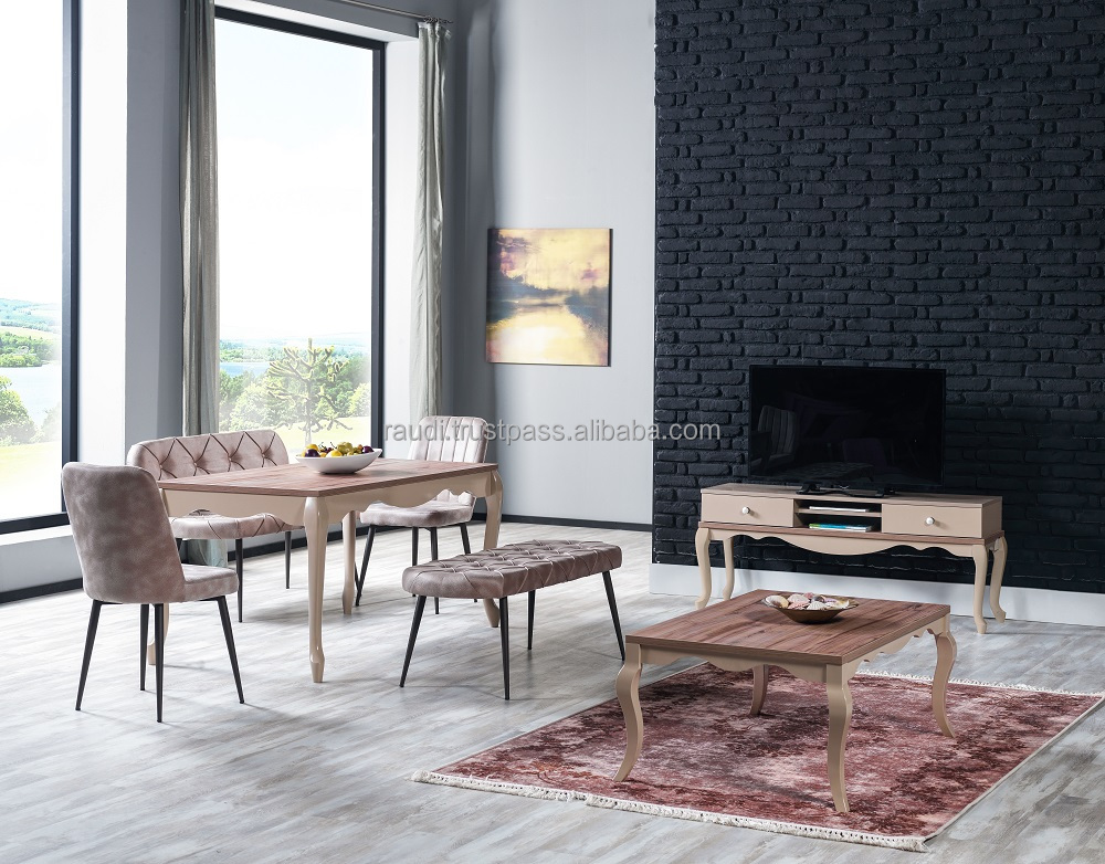 classic table sets with tv stand and coffee table solid wood legs avangard design inexpensive price cappuccino buy vogue dining table sets granite coffee table set table and chair set product on