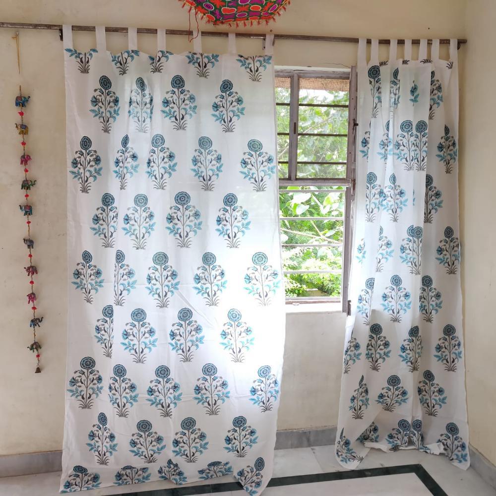 indian handmade block print design window cotton curtain buy hand block printed curtain design sliding window curtain indian window curtains product