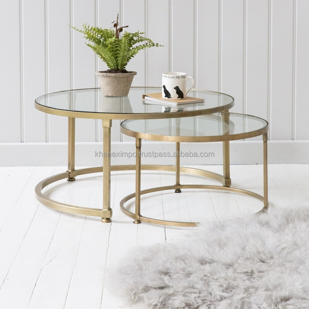wohnzimmer mobel gold rahmen kaffee tisch zeitgenossische metall beine und glas top moderne runde cocktail tisch buy living room furniture gold