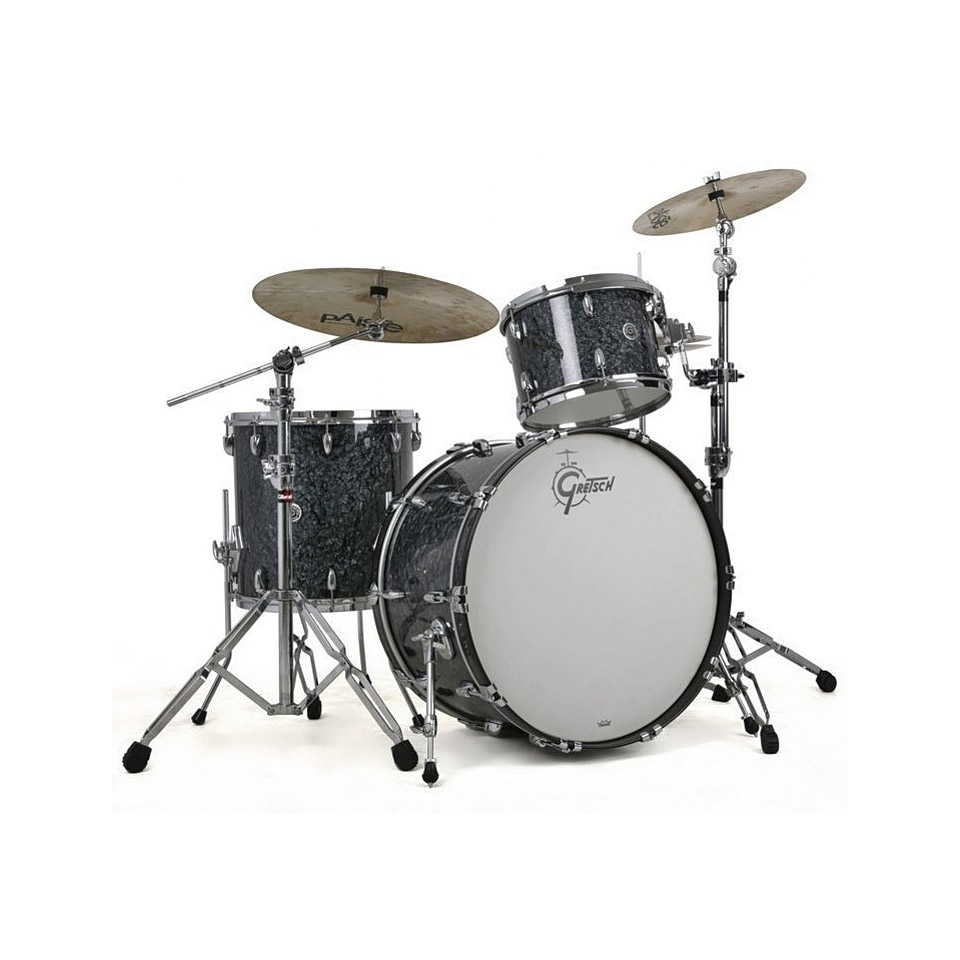 Gretsch Drums USA Brooklyn 22  Deep Marine Black Pearl Drumset     Gretsch Drums USA Brooklyn 22 Deep Marine Black Pearl Drumset