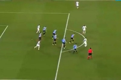 Lionel Messi ante Uruguay. Foto: captura.