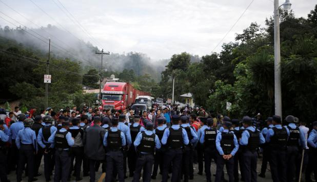 Migrantes de honduras. Foto: reuters