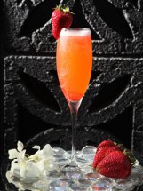 cocktail champagne fraise
