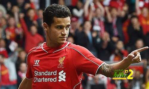 LIVERPOOL, ENGLAND - AUGUST 10: (THE SUN OUT, THE SUN ON SUNDAY OUT) Philippe Coutinho of Liverpool celebrates his goal during Pre Season Friendly match between Liverpool and Borussia Dortmund at Anfield on August 10, 2014 in Liverpool, England. (Photo by Andrew Powell/Liverpool FC via Getty Images)