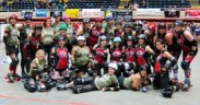 The Savannah Derby Devils and the Rogue Rollergirls, tougher than nails.Photo by Ingela Hartman
