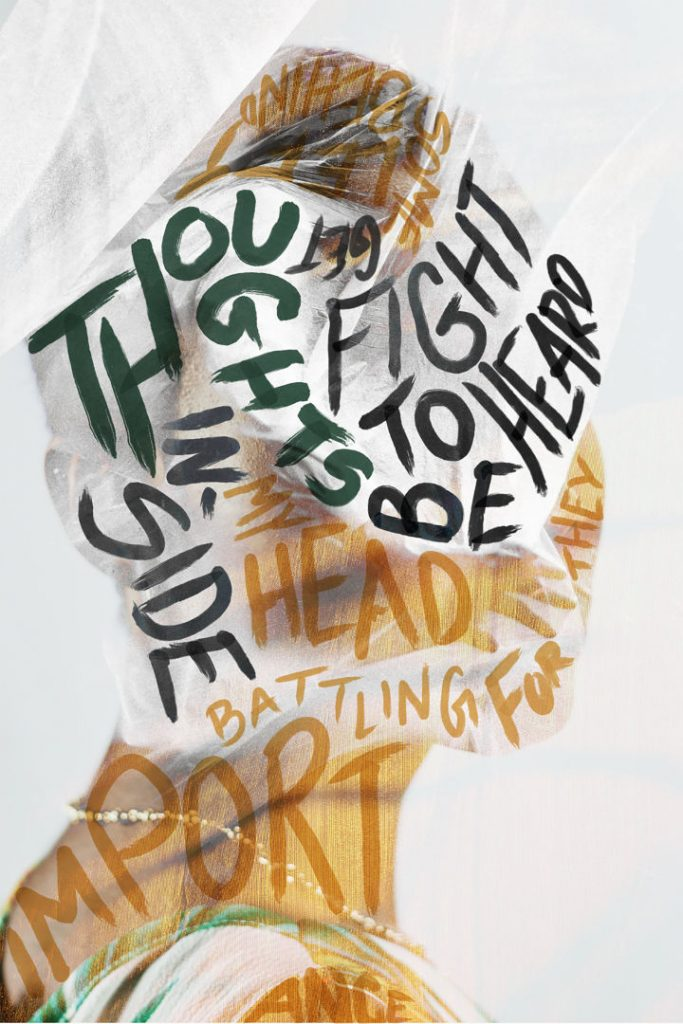 """Lindsey Peterson, MFA candidate Graphic Design """"Thoughts"""""""