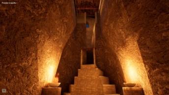 Вид на лестницу из подземной части