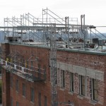 roof top scaffolding for maintenance