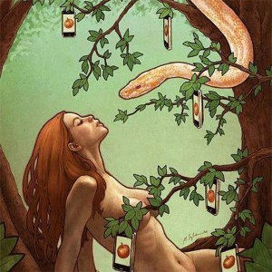 eve serpent apple = choice