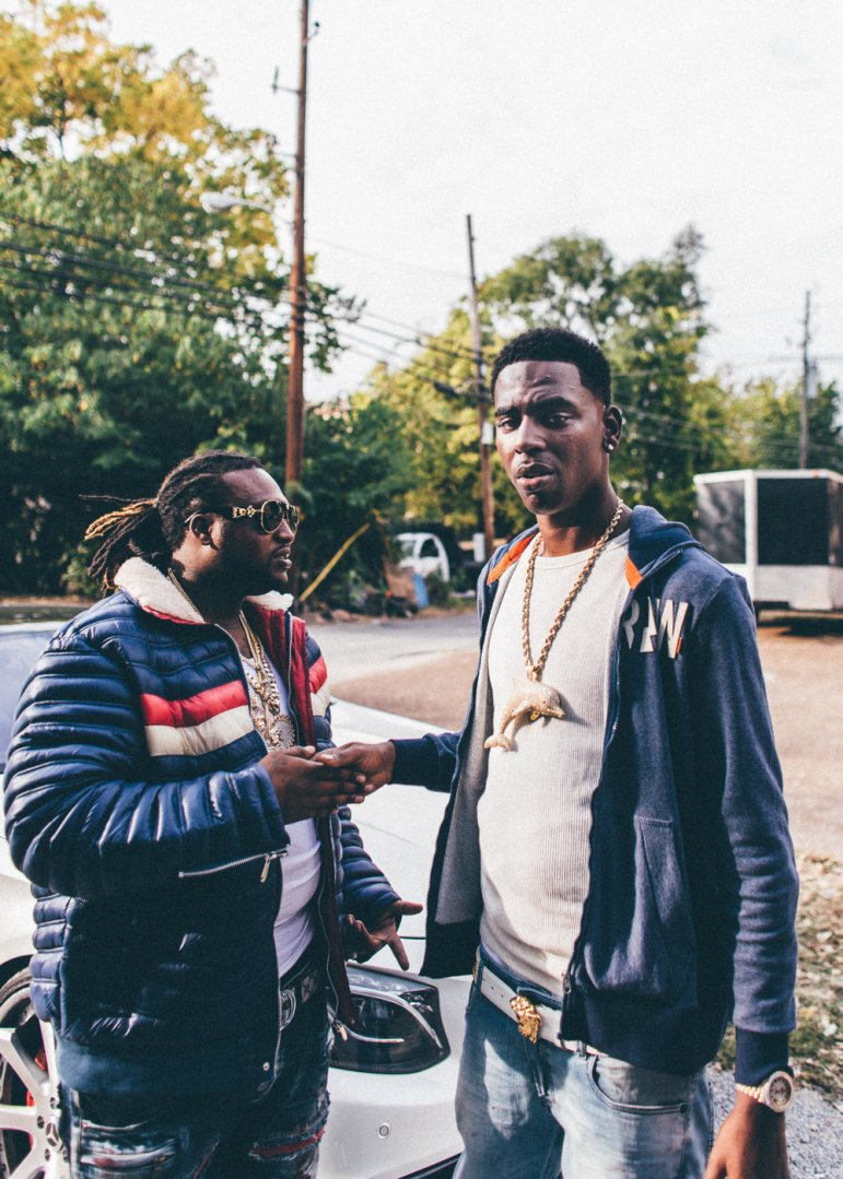 Young Dolph outside a studio session with Nashville