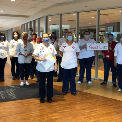 Nurses at HCA's Mission Hospital in Asheville, North Carolina. Photo from the National Nurses Organizing Committee/National Nurses United.