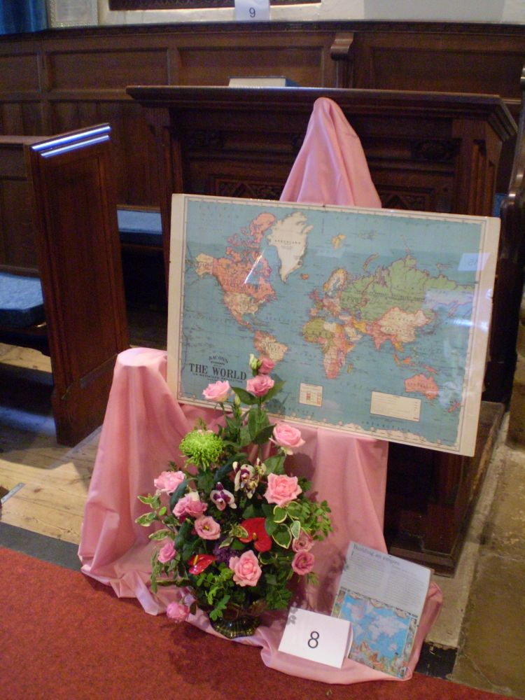 The 'Pink Map' by Yvette Drabble