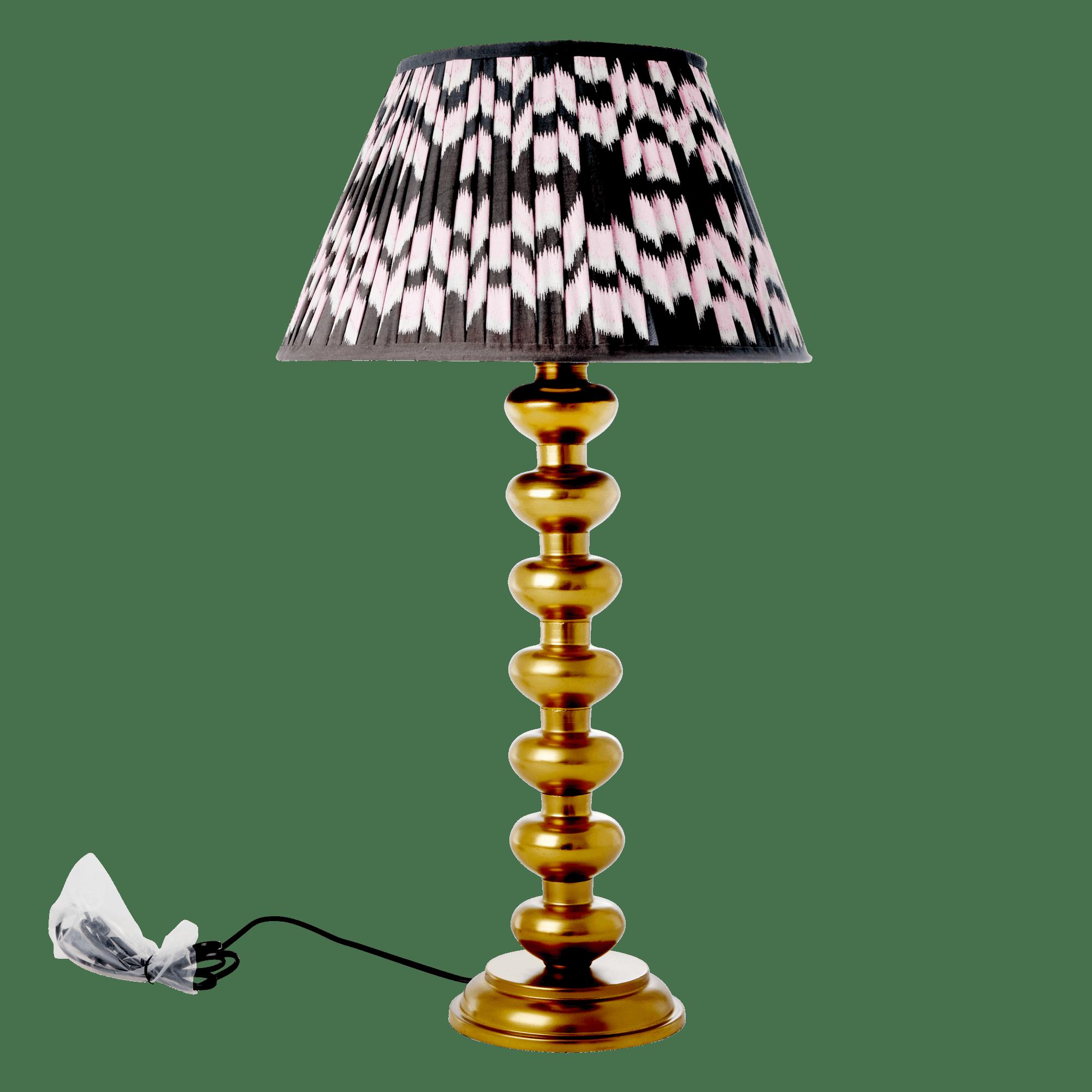 Kob Rice Metal Bord Lampe I Guld Gold Inkl Fragt