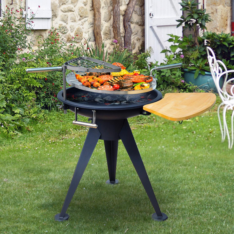 Buy Outsunny Outdoor Garden Patio Adjustable Barbecue ... on Outdoor Grill Patio id=16530
