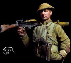"""Charlie"" the Lewis Gunner, 1917 NZ Rifle Brigade 3rd Battalion"