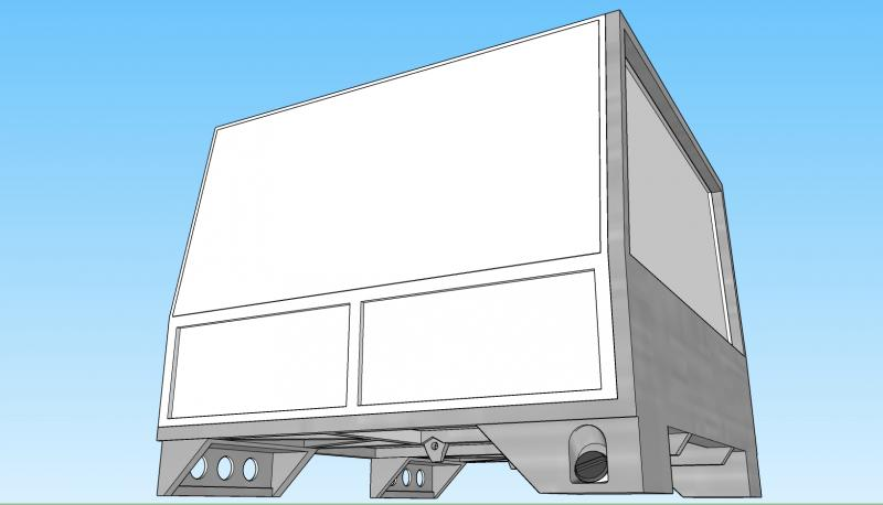 Complete Rear Bed and frame