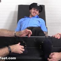 MyFriendsFeet - Officer Christian Wilde Tickled