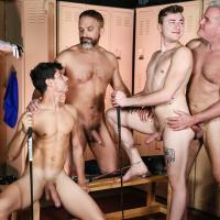 MEN.com - The Caddy And The Daddy Part 3 - Kaleb Stryker, Dale Savage, Zander Lane, Scottie McWilliams, Dirk Caber