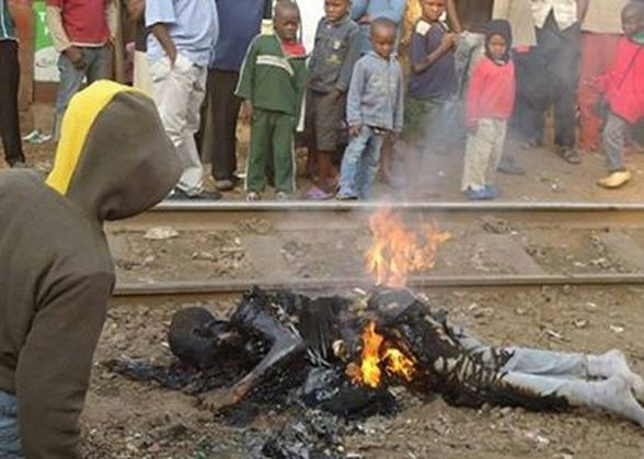 Gay person burned alive by anti gay mob in Uganda