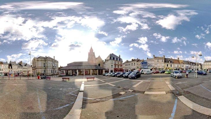 Vue panoramique d'un centre ville