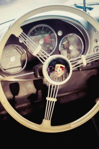 Vintage Porsche Steering Wheel