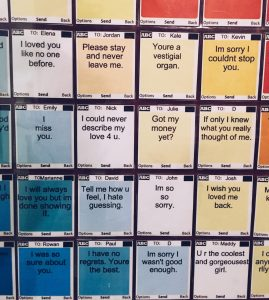 RORA BLUE, conceptual, artist, interactive, art, young, contemporary, artwork, unsent, project, message, collage, text, color, love, scandaleproject, scandale project