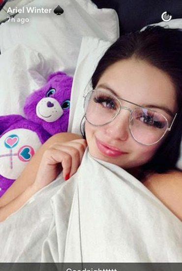 Ariel Winter in bed