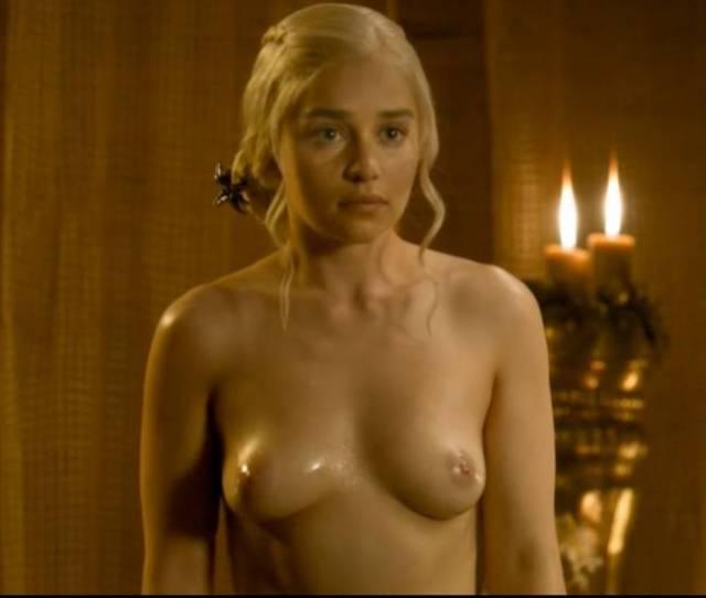 Emilia Clarke Nude Boobs In Game Of Thrones Series