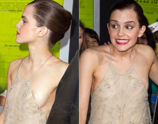 Emma Watson nude sideboob