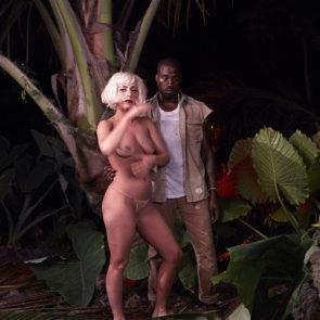 Lady Gaga nude boobs with Kanye West