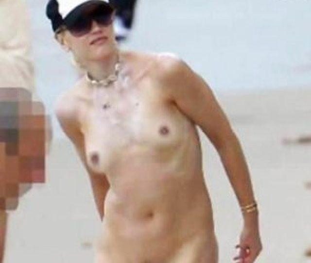 Singer Gwen Stefani Nude Tits Paparazzi Beach Photos