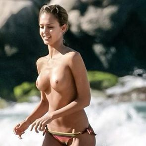 jessica alba nude tits topless
