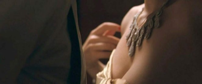 Hayley Atwell boobs in scene