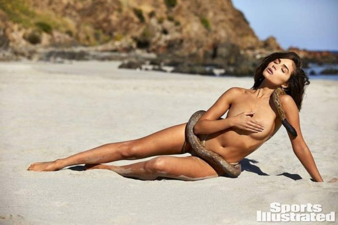 Olivia Culpo lying nude